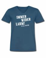 Immer wider lahm! - T-Shirt, V-Ausschnitt