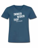 Immer wider fad! - T-Shirt, V-Ausschnitt